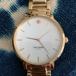 Kate Spade Gold Watch with Rose Gold Numbers